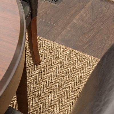 Rug in dining room